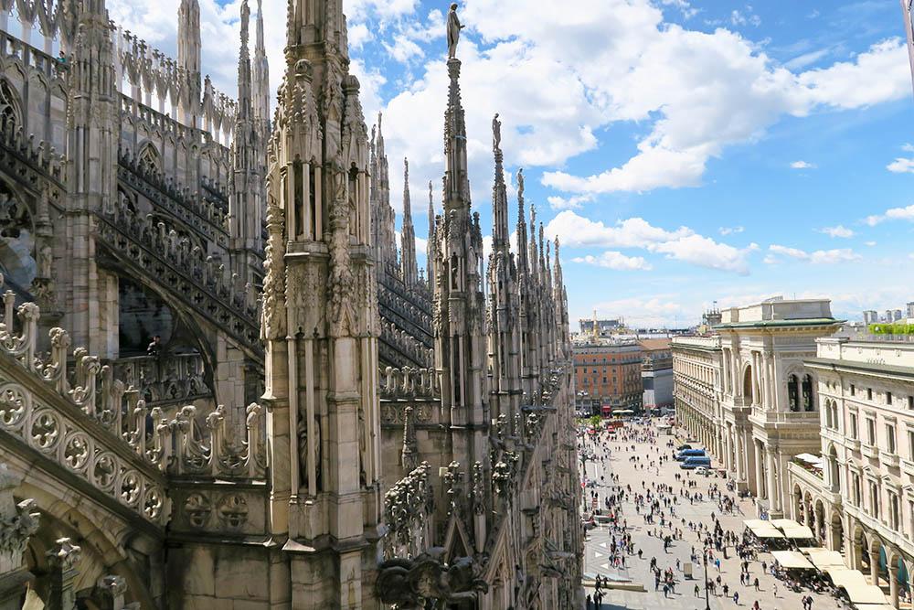 Vue du toit de la cathédrale Il Duomo