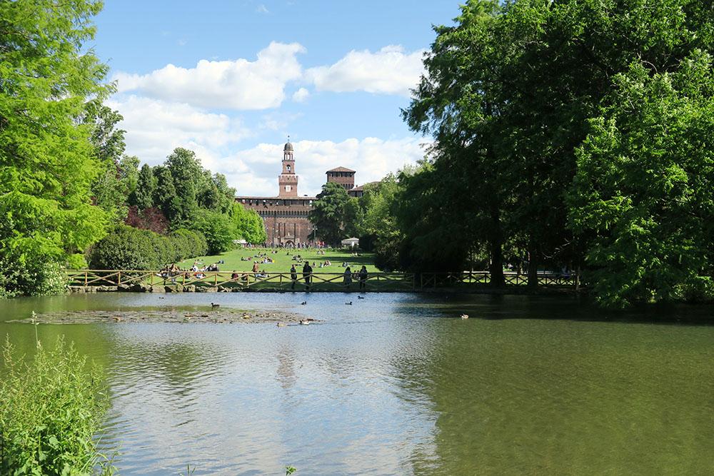 Le château des Sforza et le jardin Sempione